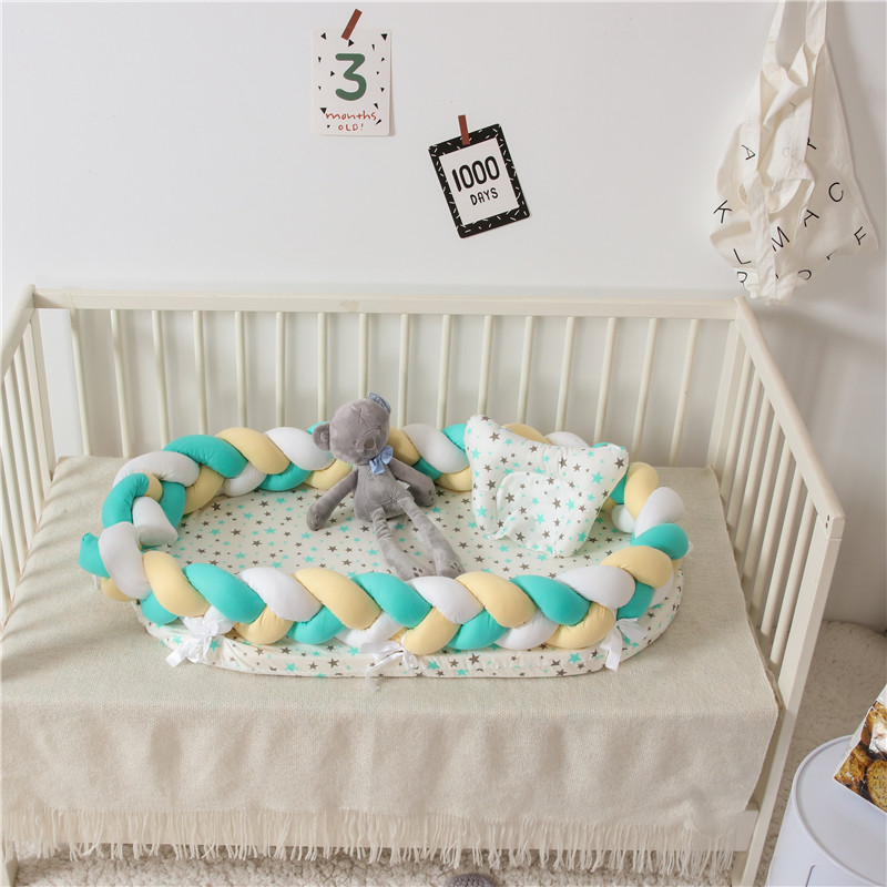 Cotton Baby Nest Bed Travel Crib For Newborn Portable Bebe Cot Infant Crib Cradle Babynest Washable Bumper
