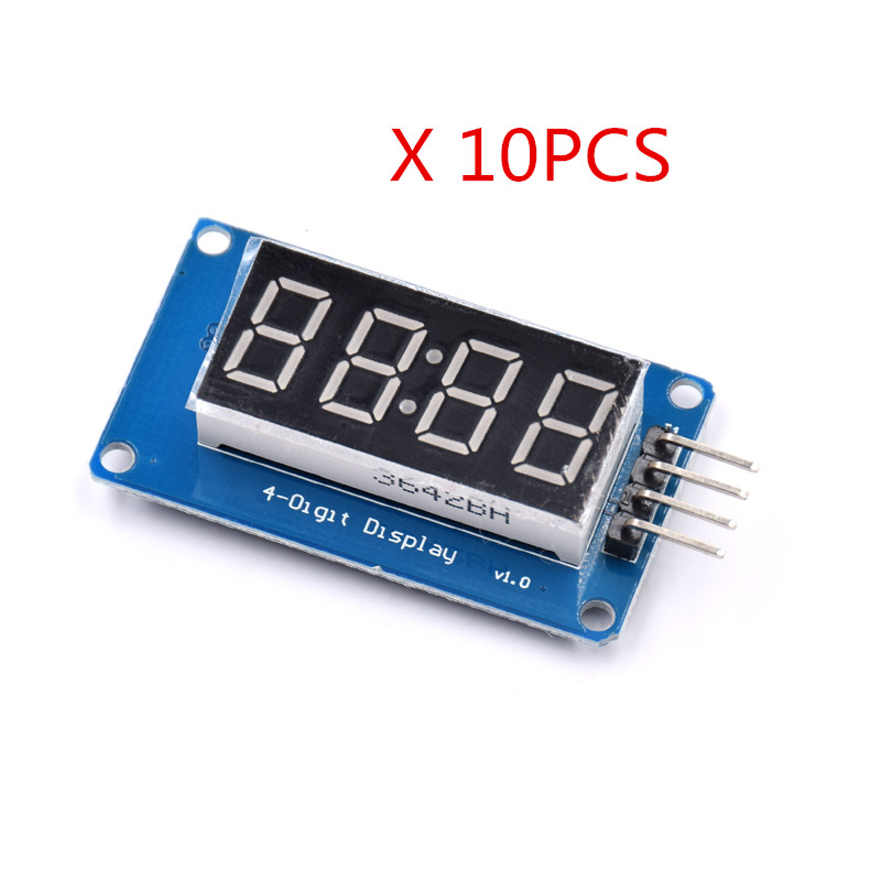 10pcs/lot 4 Bits Digital Tube LED Display Module With Clock Display TM1637
