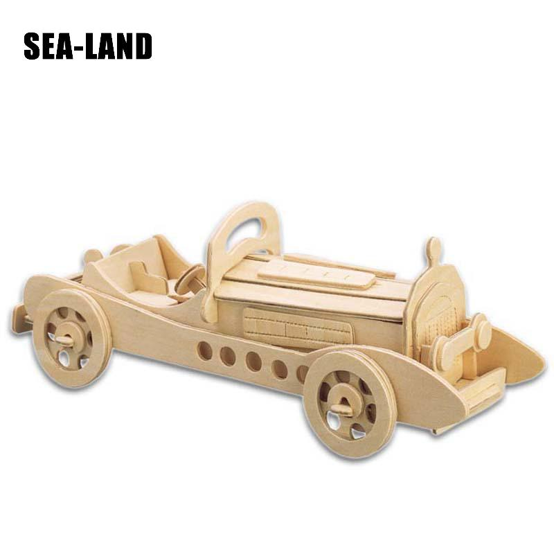 Djeca Igračke Drveni 3D Puzzle Za Djecu Beat-up Car Montessori - Igre i zagonetke - Foto 2