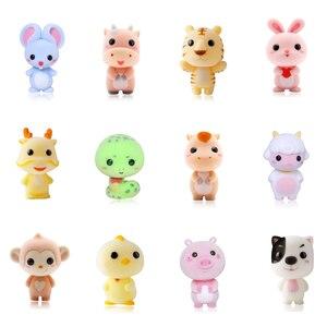 12 sztuk małe słodkie uciekają lalki Mini zdic dekoracji zabawki Kawaii pluszowa małpka dla dziewczyn wykwintne lalki świąteczne prezenty