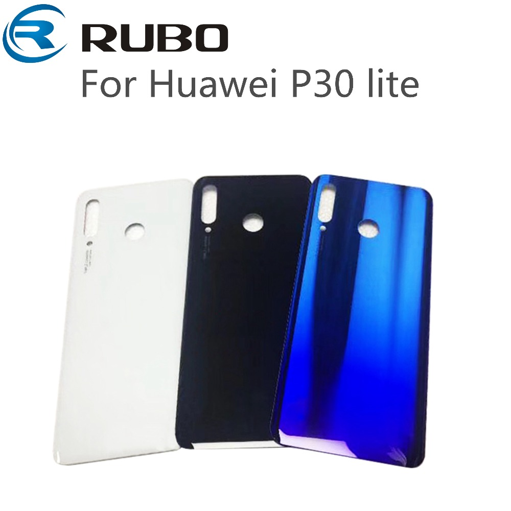 nuovo concetto 90d35 3a6e4 US $8.23 |For Huawei P30 Lite Back Battery Cover Door Housing case For  Huawei P30 Lite Nova 4e Back Rear Glass Cover With Adhesive Tape-in Mobile  ...