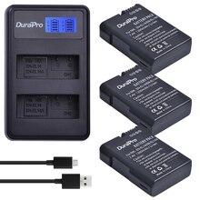 3 x DuraPro EN-EL14a EN-EL14 EN EL14 Battery + LCD USB Dual Charger For Nikon Battery D5500 D5300 D3300 D5100 D5200 D3100 D3200