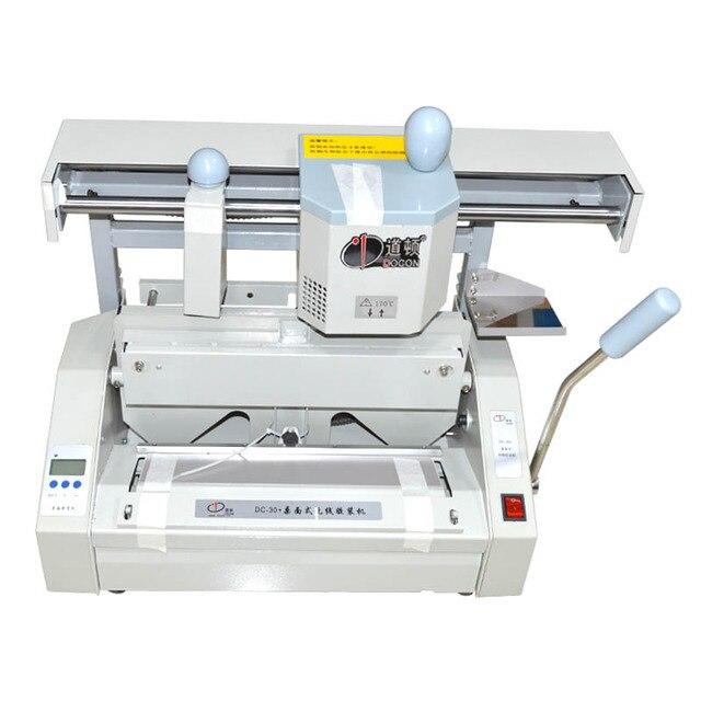 DC-30 Desktop hot melt glue binding machine comb glue book binder machine booklet maker 110V/220V