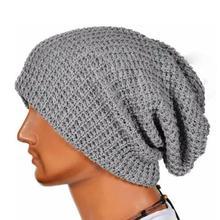Мужчины Женщины Теплая Зима Громоздкая Вязать Шапочки Skull Cap Hat