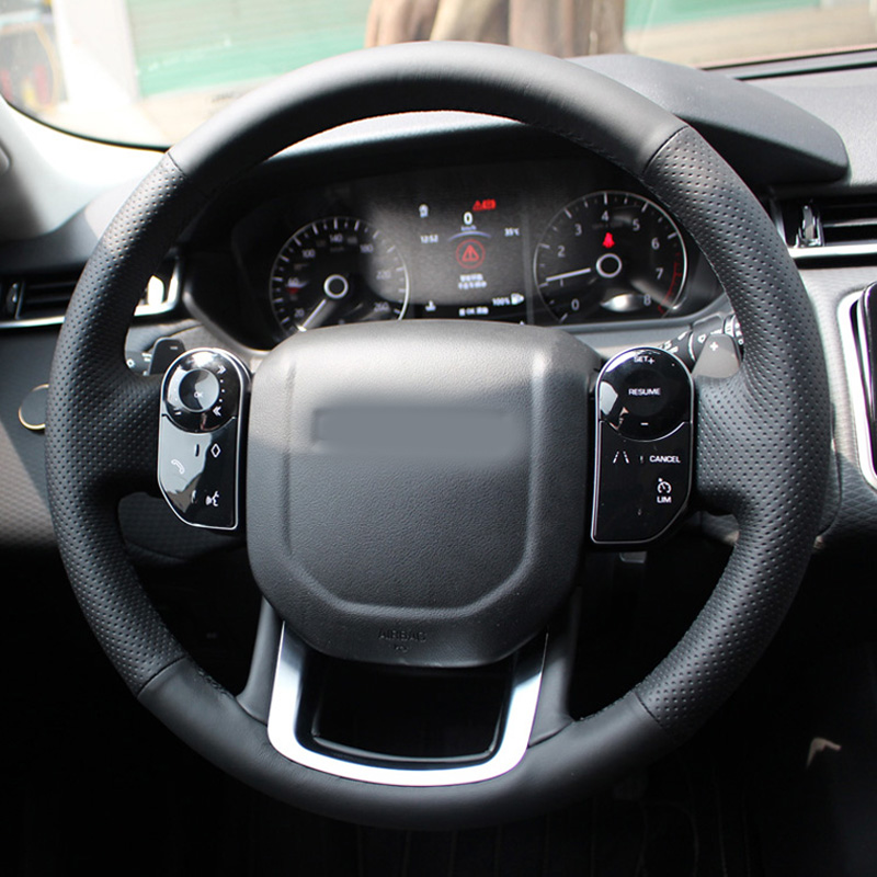 High Quality Cowhide Top Layer Leather handmade Sewing Steering wheel covers For Land Rover Range Rover Velar Range Rover Sport in Steering Covers from Automobiles Motorcycles
