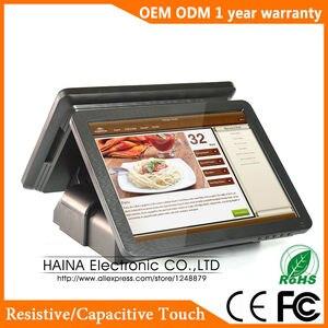 Image 3 - Haina タッチ 15 インチデュアル画面タッチスクリーン NFC Pos 端末デュアルスクリーン