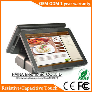 Image 3 - Haina Touch 15 Inch Dual Screen Touch Screen Nfc Pos Terminal Dual Screen