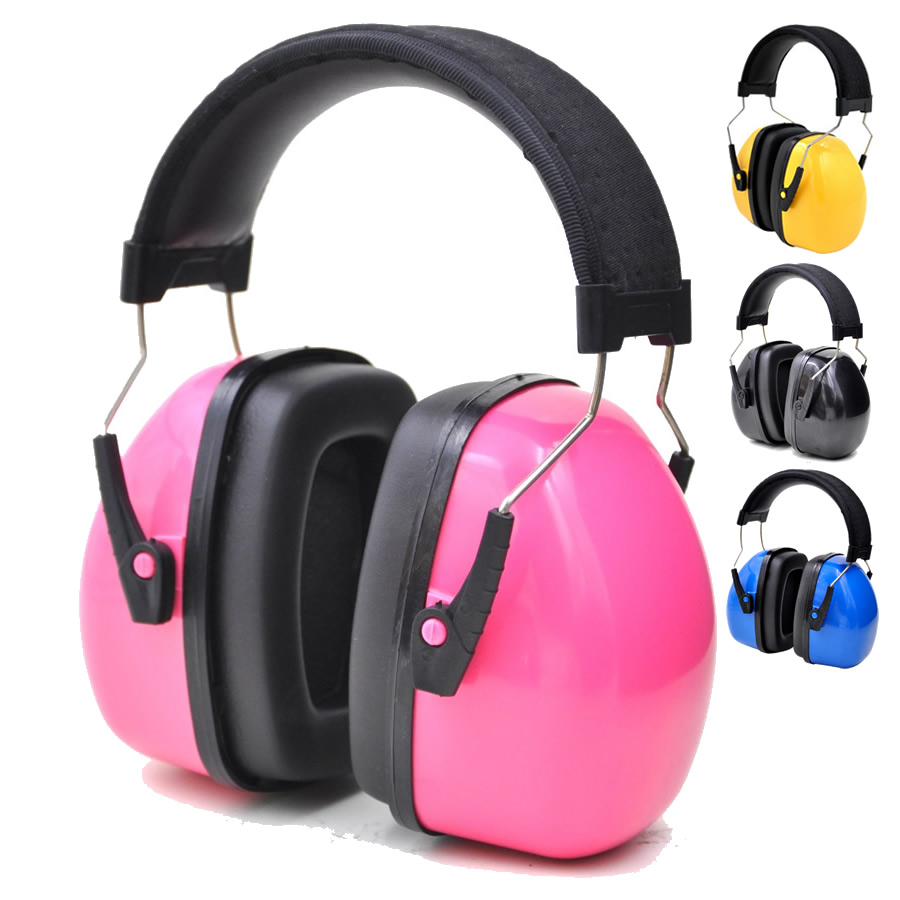 Kids/Adults Anti-Noise Head Earmuffs Adjustable Headband Ear Protector For Work Study Shooting Woodwork Hearing Protection