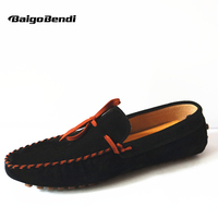 US6 10 New suede Leather Tie Casual SLIP ON loafer men lace up driving shoes 8 colors