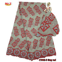 Mr Z Grey Red Dubai Swiss Voile Cotton Lace Fabric 2017 Simple African Lace Fabric Swiss