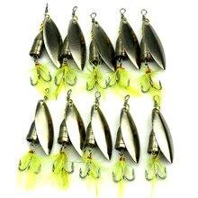 KKWEZVA 5pcs 6g Free shipping spoon fishing lure spoon lure Treble Hook metal lure for fishing hard bait fly fishing