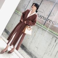 Женская блузка, рубашка с v образным вырезом, однотонная, со шнуровкой, с длинными рукавами, с разрезом, средняя длинная, модная блузка из шиф