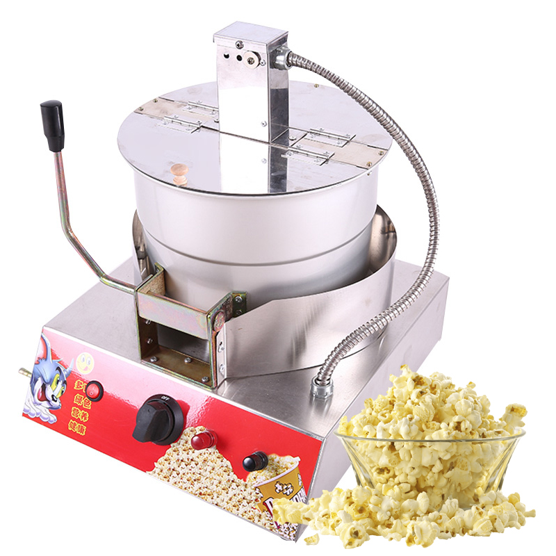 Stainless Steel Popcorn Machine Single Pot Liquefied Gas electric popcorn machine commercial popcorn machine New 1pc 10oz stainless steel 110v 220v electric commercial popcorn machine with temperature control