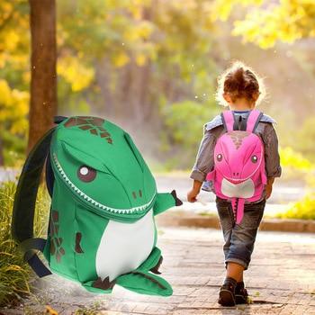 3D Dinosaur Backpack For Boys Girls Children Animal Waterproof Bag