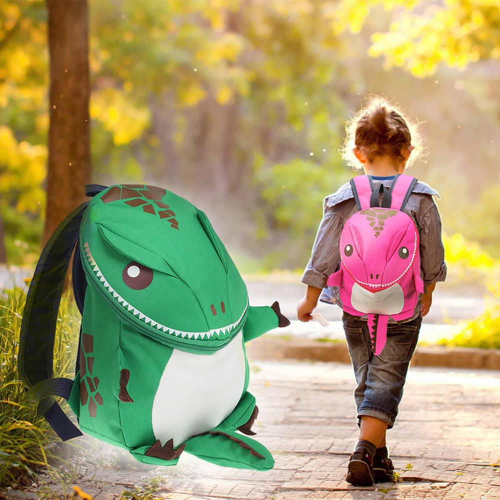 3D Динозавр Детская сумка для мальчиков девочек Водонепроницаемые Детские рюкзаки маленькая сумка девочка милые принты в виде зверей дорожные сумки игрушки подарки