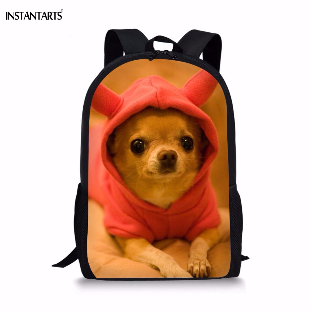 Detail Feedback Questions about INSTANTARTS Children School Bags for Girls  Boys Cute 3D Puppy Chihuahua Pattern Kids School Bags Casual Lap Top Travel  ...
