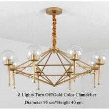 Modern LED Crystal Lamps Long Pendant Lustres De Cristal Kronleuchter(China)