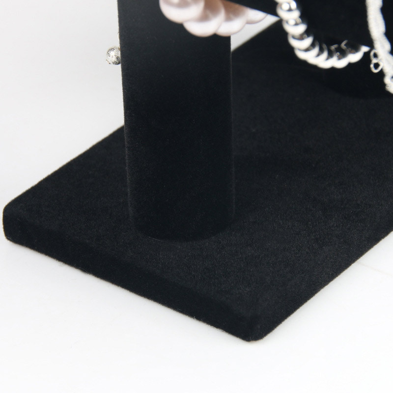 Portable Velvet/PU Leather Bracelet Bangle Necklace Display Stand Holder Watch Jewelry Organizer T-Bar Rack KQS8