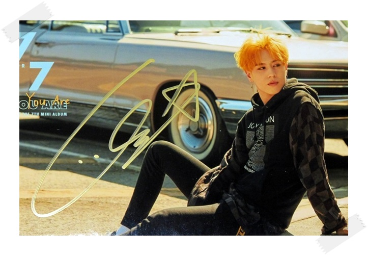 signed GOT7 GOT 7 Kim YuGyeom Yu Gyeom autographed photo  7 FOR 7 6 inches free shipping 102017B signed got7 got 7 kim yugyeom yu gyeom autographed photo 7 for 7 6 inches free shipping 102017a
