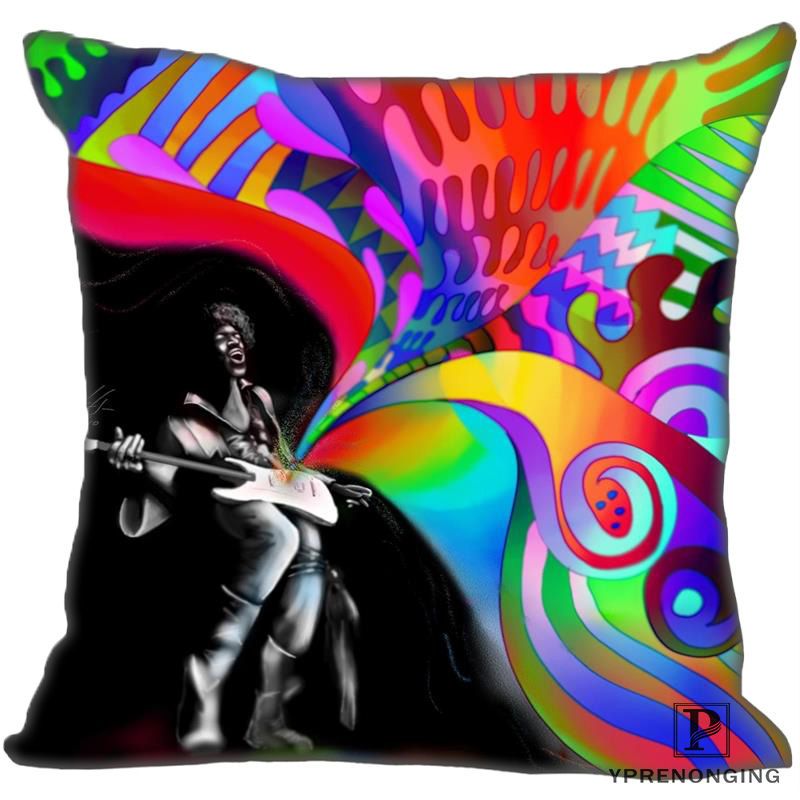 Best Custom Jimi-Hendrix (1) Pillow Case Bedroom Home Square Zipper Pillowcases (One Side) #190404-01-158