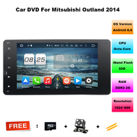 7 1024 600 Android 6 0 2 Din 2G 32G Car DVD Radio For MITSUBISHI OUTLANDER