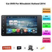 7 1024 600 Android 6 0 2 Din 2G 32G Car DVD Radio For MITSUBISHI OUTLANDER