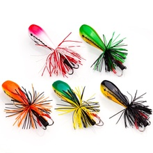 OBSESSION Jump Frog Lure Hard Bait Popper Lures Silicone Skirt Fishing 5.5cm/9g