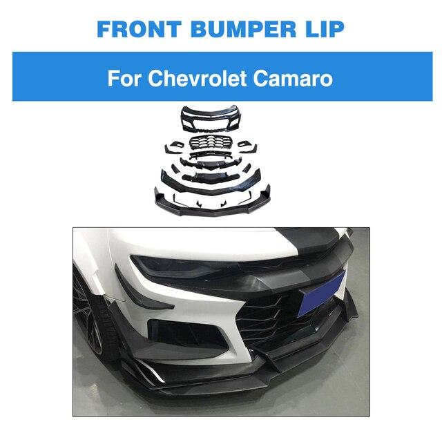 For Chevrolet Camaro 2016 - 2019 Front Bumper Lip Carbon Fiber / FRP Front Bumper Lip Spoiler