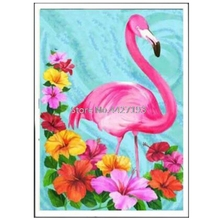 3D Rhinestone Painting Crystal Home Decor DIY Diamond Flamingo Flowers Cross Stitch Pattern Embroidery