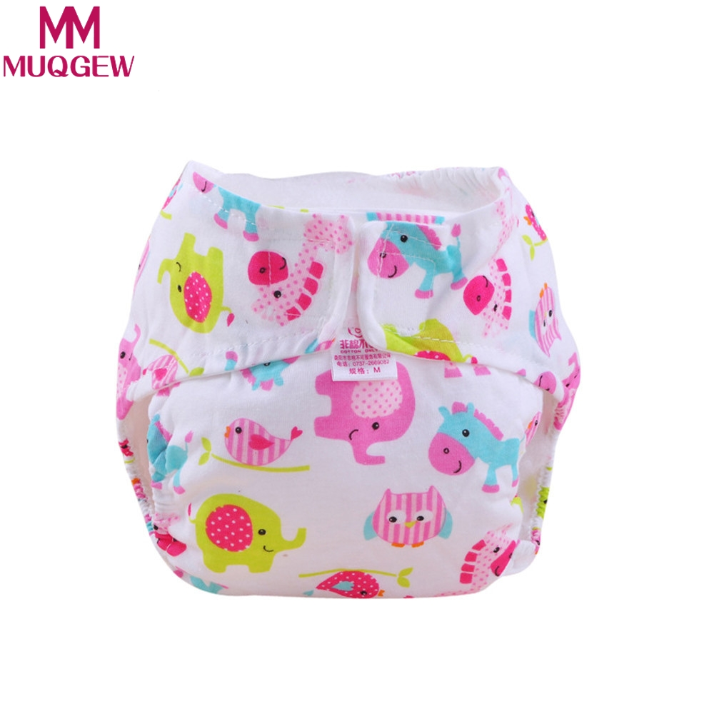 MUQGEW 1PC Hot Selling Cute Baby Cotton Training Pants Reusable Infants Nappies Diapers