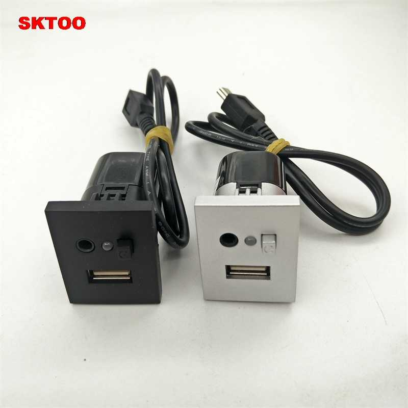 USB AUX Slot Interfaces Plug Button Cable Ford Focus MK2 Adapter Socket Button