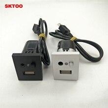 Sktoo для Ford Focus cd dvd плееры USB Aux автомобиля Интимные аксессуары AUX USB интерфейсы и пуговицы с мини-кабель USB 2005 -2014