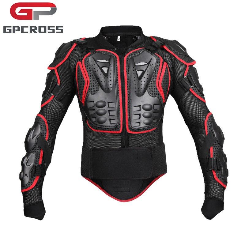 GPCROSS Moto armure Protection Motocross vêtements veste Moto Cross arrière armure protecteur Protection vestes noir rouge