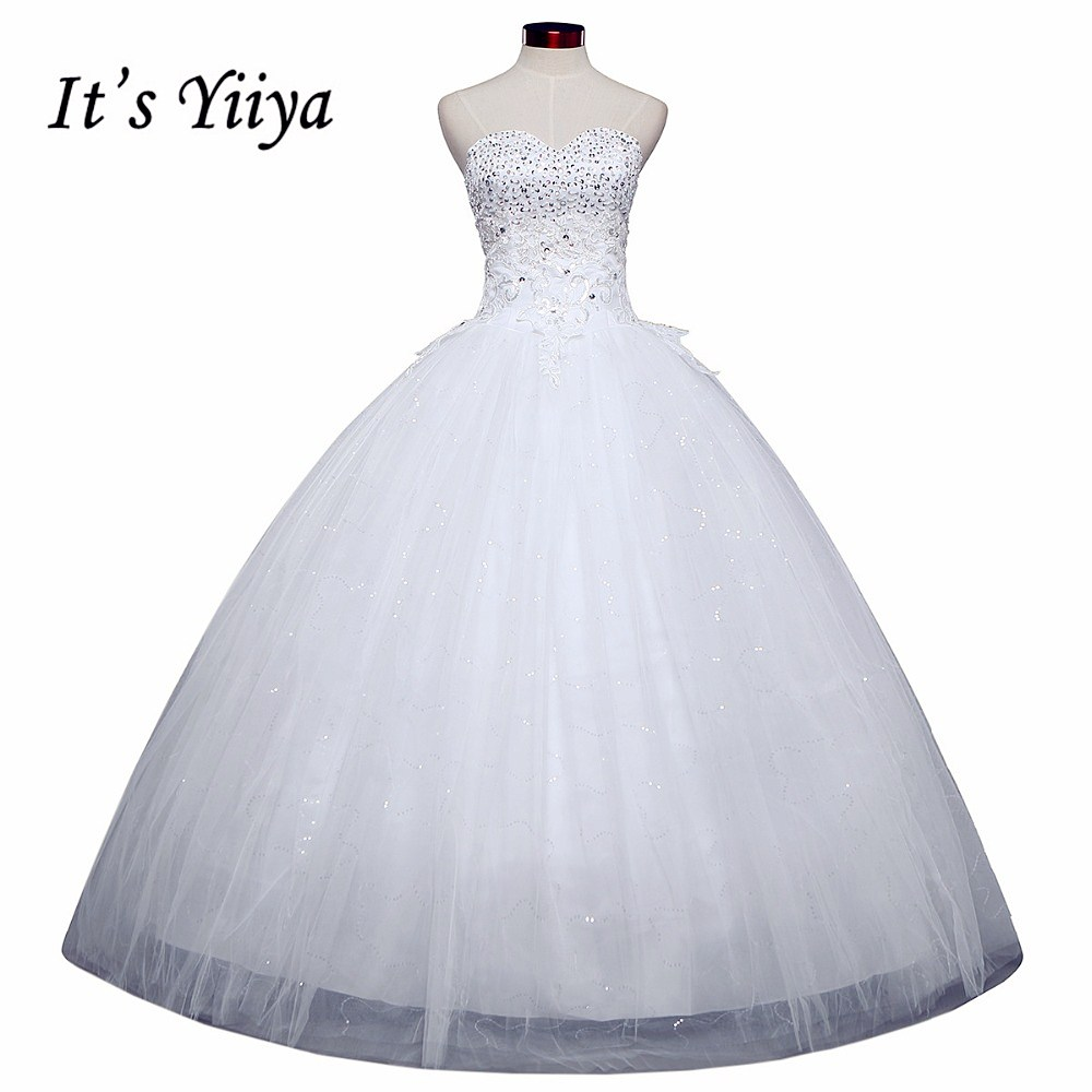 Free shipping 2015 new lace up white wedding gown floor length koren style sequin wedding dress