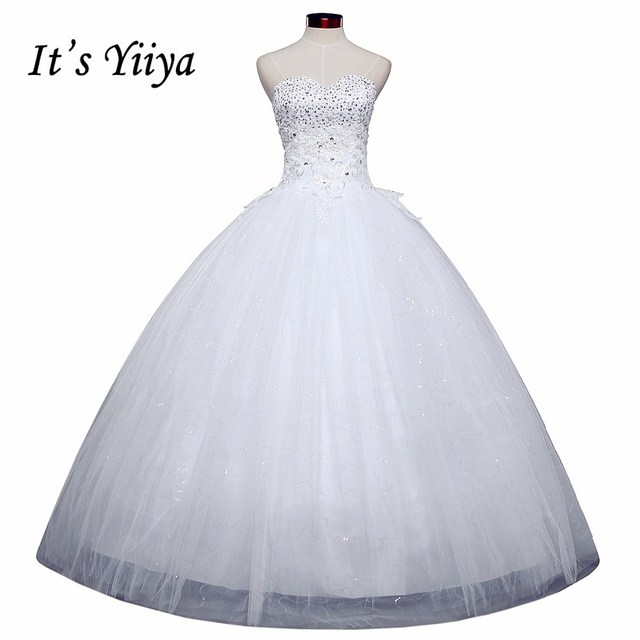 Free shipping 2015 new lace up white wedding gown floor length koren ...