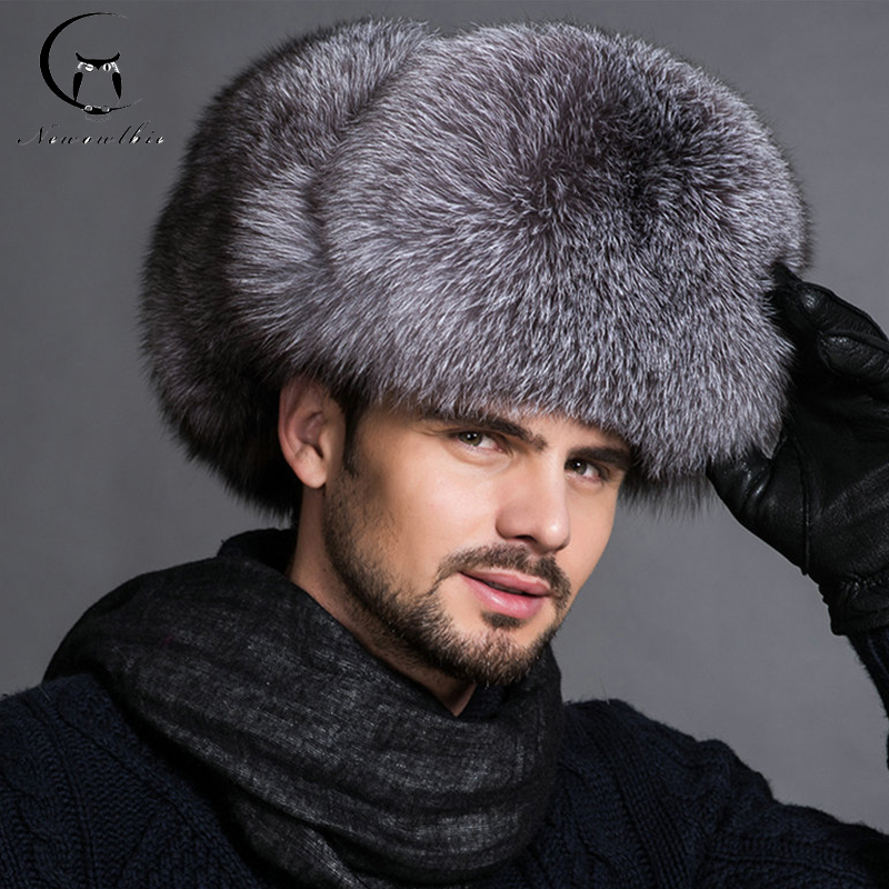 Hot High-end Luxury Fur Hat Men's Fox Fur Hat Lei Feng Cap Ear Cap Fur Necessary Hat(China)