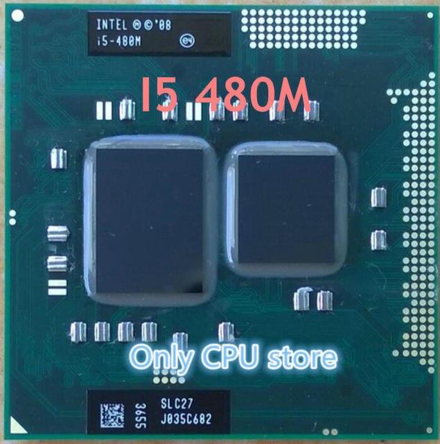 Vận chuyển miễn phí Intel Core I5 480 m cpu 3 M/2.66 GHz/2933 MHz/Dual-Core máy tính xách tay bộ vi xử lý I5-480M Tương Thích HM57 HM55