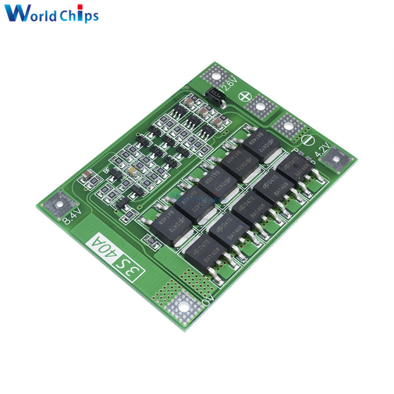 3S 4S 8A 30A 40A 60A 12.6V 13.6V Polymer Li-ion Lithium Battery Charger Protection Board PCB BMS 12V For Drill Motor Lipo Cell