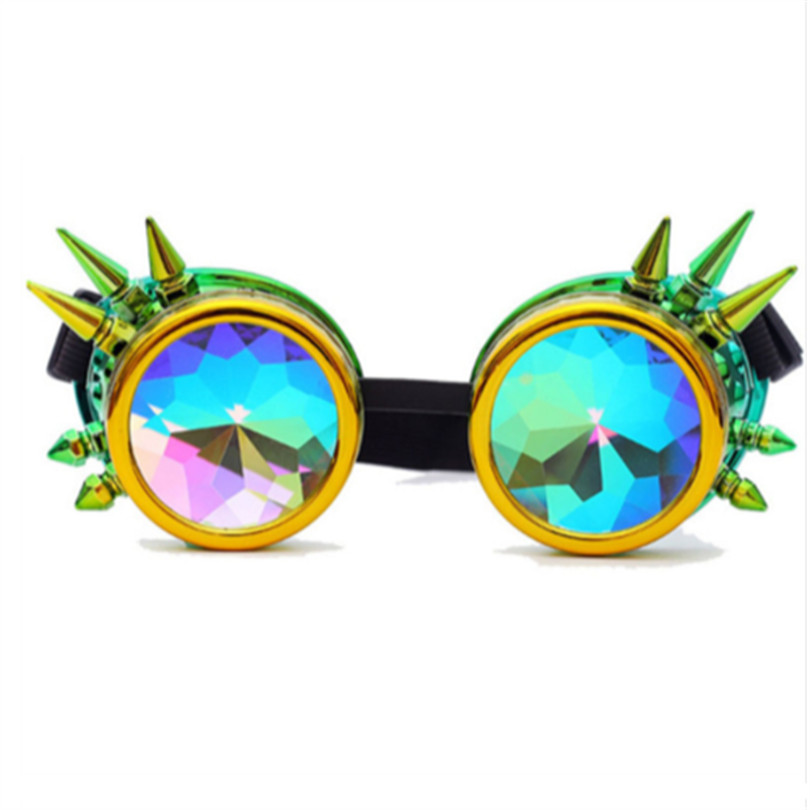 8d395722addb Steampunk Sunglasses Goggles Men Women Gothic Holographic Rave Festival  Kaleidoscope Glasses Cosplay Party Glasses-in Sunglasses from Apparel  Accessories on ...