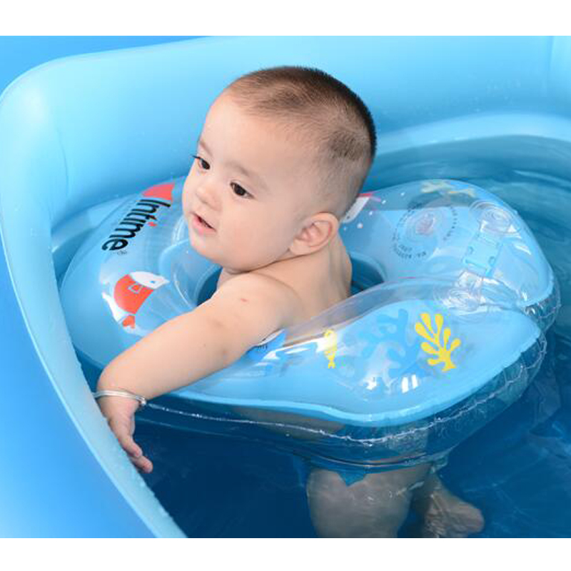 Safety Kids Float Baby Ring Infant Inflatable Ring Cartoon Swimming Accessories Swim Ring For 6 Months To 2 Years Old