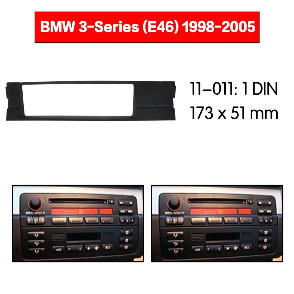 Car Radio Fascia multimedia Frame Kit For BMW 3-Series E46 1998-2005 Facia Panel Trim Dash CD ONE Din Audio Bezel dash
