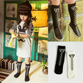 2016 Newest Cotton Girls Socks Cute Butterfly Cartton Socks for Baby Accessoriesl long  kid socks for girls