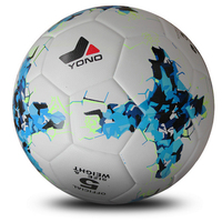 Soccer ball Size 5 for adult Blue pattern PU material production