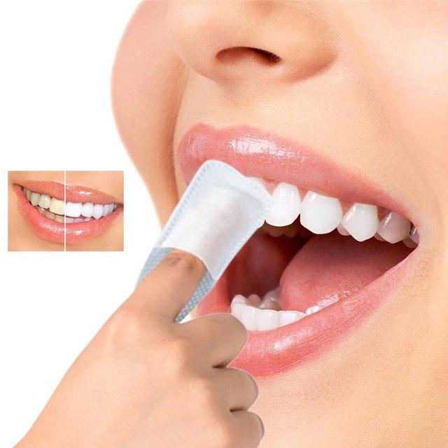 50 Pcs Limpar Oral Brush Up Dedo Para A Limpeza Profunda Limpa