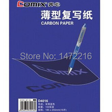 Comix D4016 копировальная бумага из углеродистой бумаги 100 листов размер 182*225 мм, цвет: синий