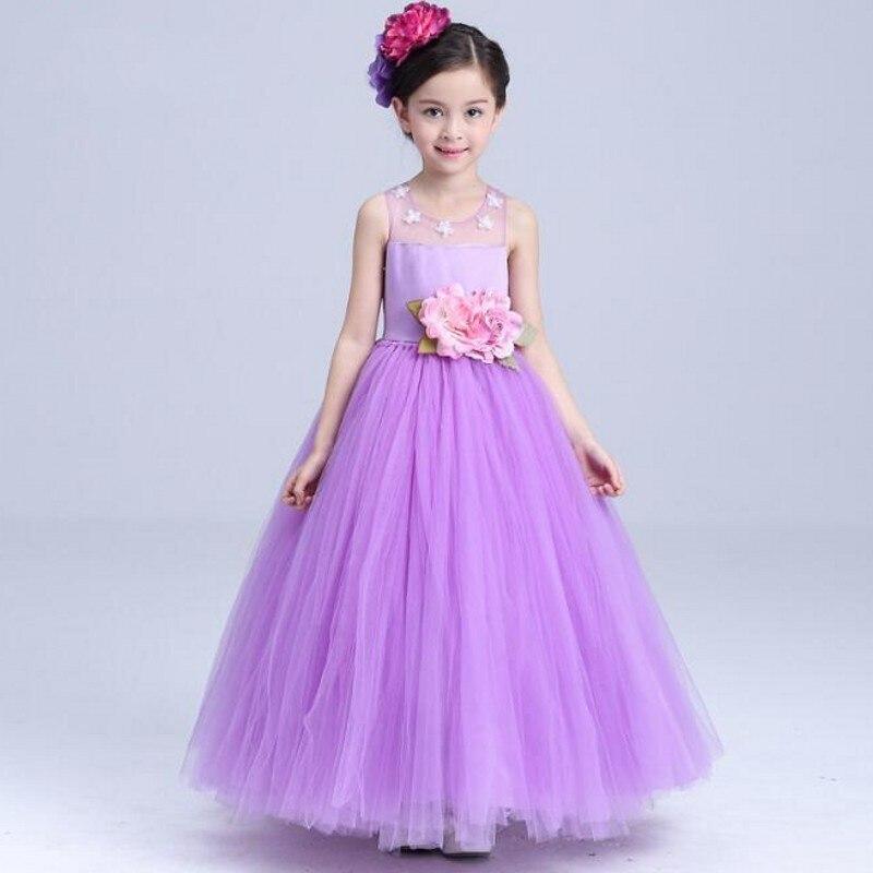 Atractivo Los Niños Vestidos De Dama De Color Púrpura Modelo ...