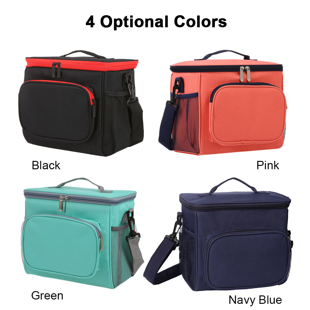 Image 5 - Insulated Lunch Bag Tote Box Picnic Tote with Adjustable Shoulder Strap Leakproof & Fashionable Cooler Tote Bag for Adult & Kids-in Storage Bags from Home & Garden