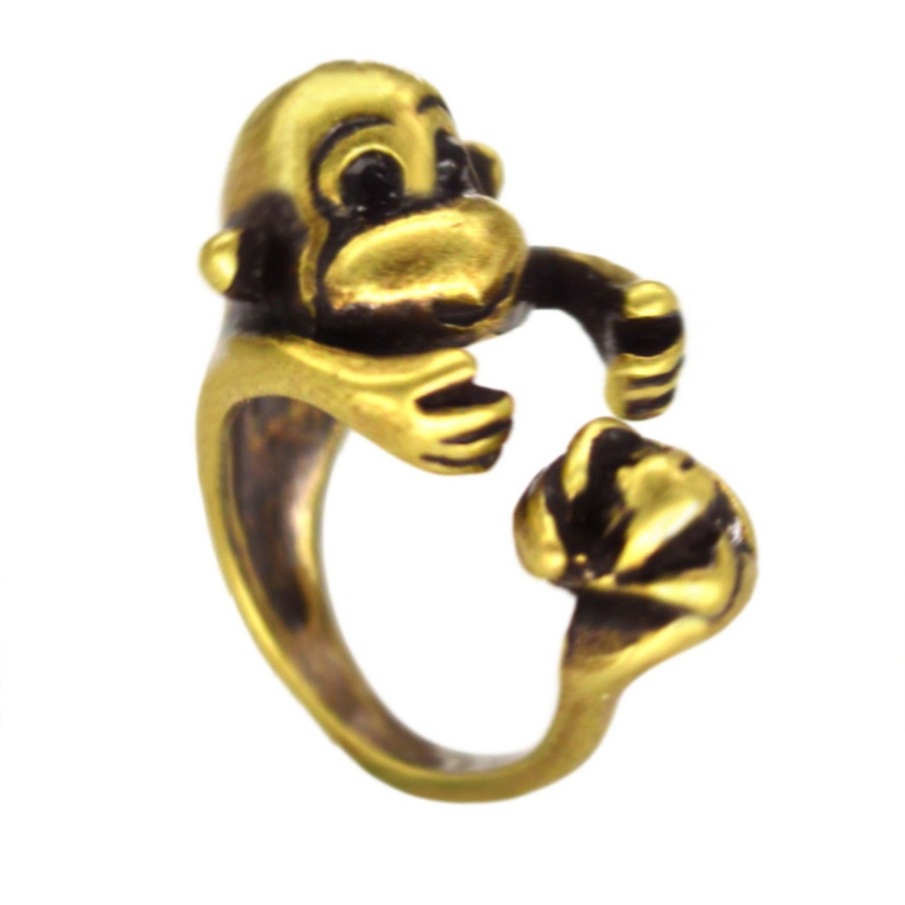 Hot Sale 30Pcs Adjustable Cute Monkey Ring, Monkey With -6664