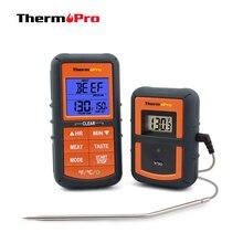 Thermopro TP 07 300 피트 범위 무선 온도계 원격 바베큐, 흡연자, 그릴, 오븐, 고기 온도계 및 타이머