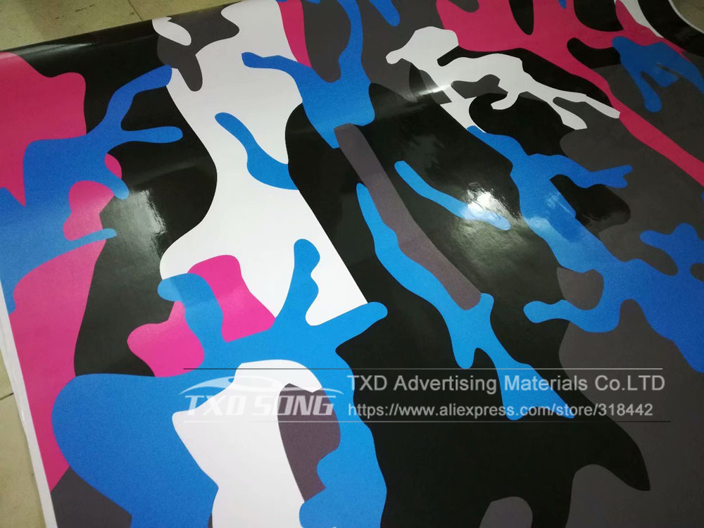 Image 4 - New arrival Car Styling Bright Color Camouflage vinyl Camo sticker For car wrapping Camo Vinyl film with air free bubbles-in Car Stickers from Automobiles & Motorcycles